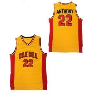 Throwback Oak Hill High School 22 Carmelo Anthony Basketball Jerseys ebd82d0ba
