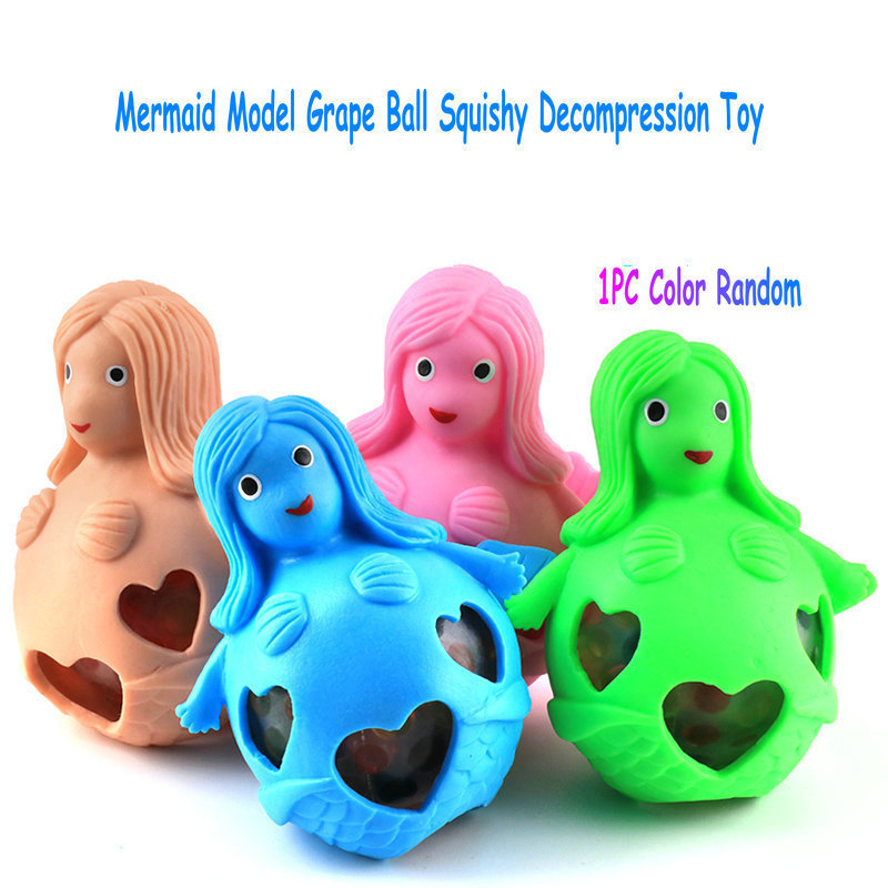 Aliexpress.com : Buy 1PC Mermaid Squishy Grape Colorful Ball Squeeze ...
