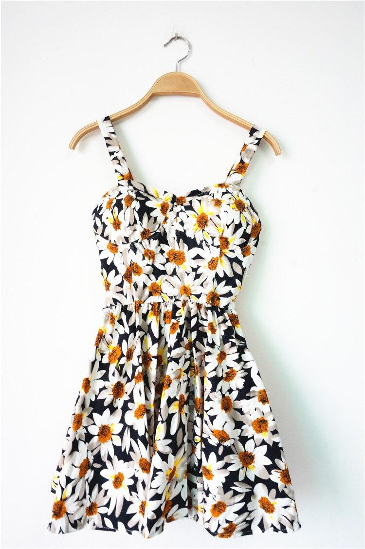 Fashion Dresses Accessories: Brand 2015 Harajuku Vintage Daisy Sunflower Floral Print