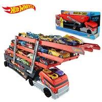 Hot Wheels Hotwheels CKC09 Veículos Pesados De Transporte de 6 Camadas Pequeno Carro de Brinquedo Caminhão Transportador De Armazenamento Escalável Menino Brinquedo Educativo