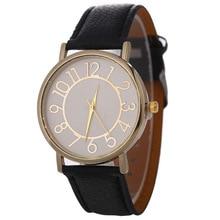 SANYU Простые Модные кварцевые наручные часы Круглый Для женщин часы Аналоговые часы сплава