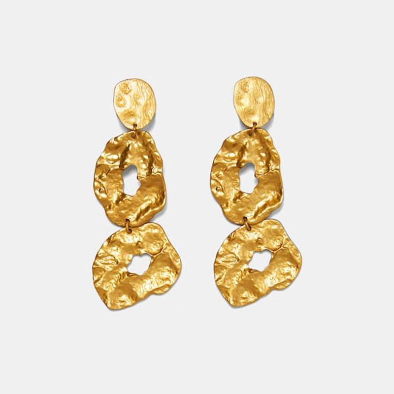 Hot-Sale-ZA-Design-Gold-Metal-Long-Dangle-Earring-Women-Vintage-Irregular-Large-Statement-Drop-Earring