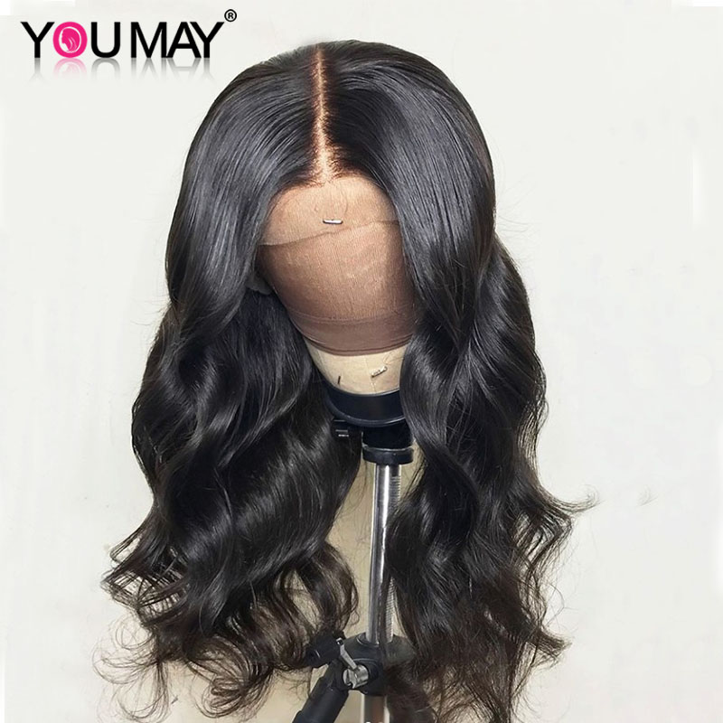 360 Lace Frontal Wigs 22.5X7X2 Lace Frontal Wigs For Women 150% Body Wave Deep Parting Human Hair Wigs Pre Plucked You May Remy