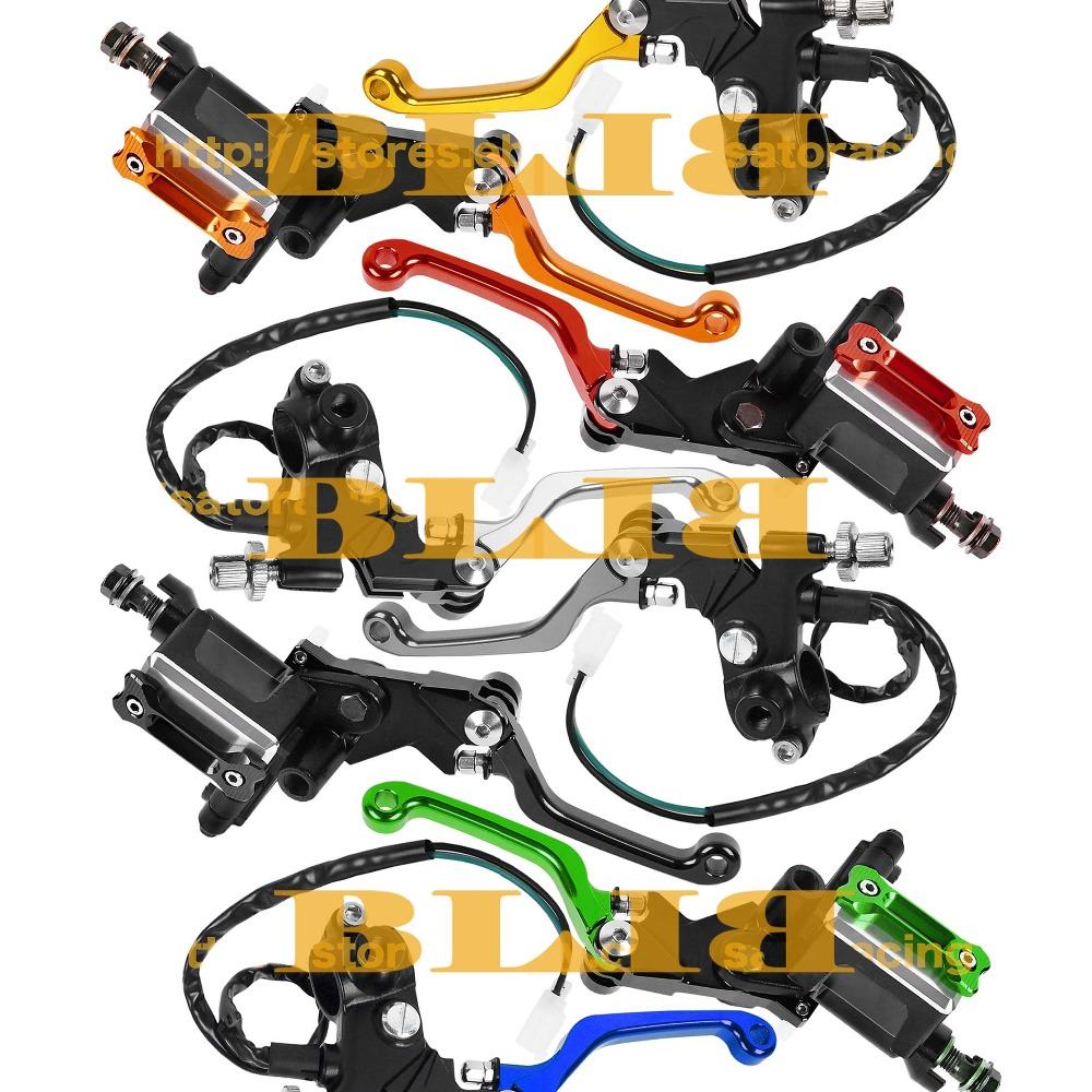 CNC 7/8 For Kawasaki KDX250SR KLX125 D-TRACKER125 KLX150S ZXR250 Motocross Brake Master Cylinder Clutch Levers Dirt Pit Bike cnc 7 8 for honda cr80r 85r 1998 2007 motocross off road brake master cylinder clutch levers dirt pit bike 1999 2000 2001 2002