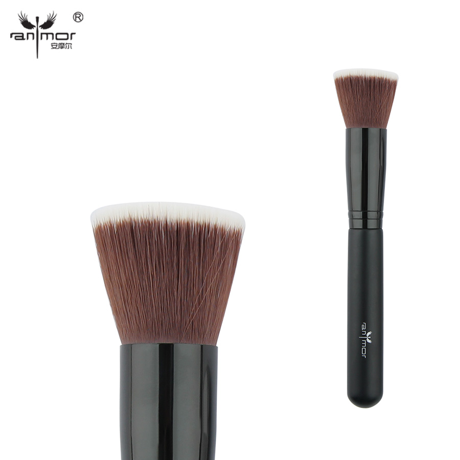 Anmor Flat Head Foundation Brush Synthetic Hair Multifunction Makeup Brushes PL02S