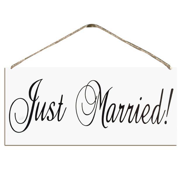 Holz Nur Verheiratet Hochzeit Foto Requisiten Hochzeit Zeichen