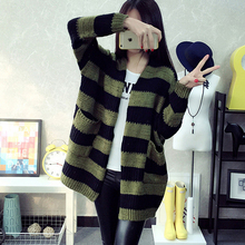 2016 autumn female V-neck stereo all-match loose wool cardigan sweater pattern