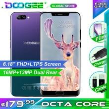 DOOGEE Y7 Plus téléphone portable 6.18 pouces 1080*2246 écran MTK6757 octa-core 2.5GHz 6GB RAM 64GB ROM 16.0MP + 13.0MP 5080mAh Android 8.1