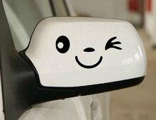 Aliauto 2 x smile car RearView Mirror Stickers Funny  Decal for Ford focus Chevrolet cruze Honda Toyota Lada kia opel  vw skoda