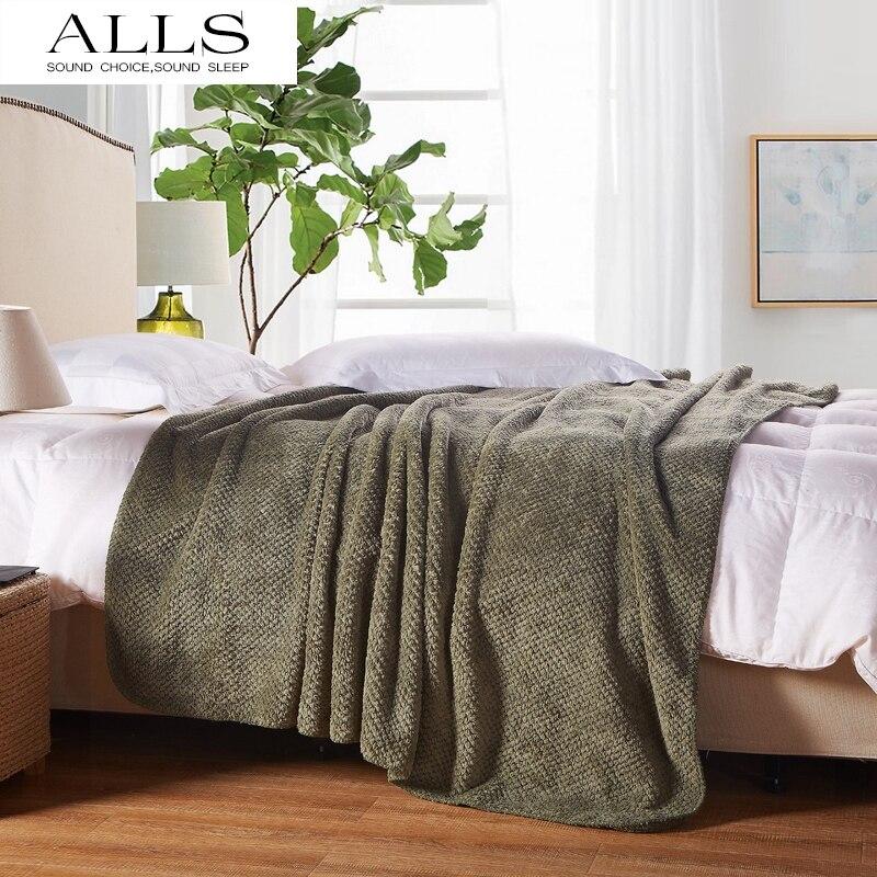 Japanese style blanket on bed/sofa brown/ArmyGreen bed cover/blankets for spring/summer/autumn pled na krovat pokryvalo na divan