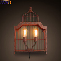 IWHD American Style Loft Industrial Lighting Wall Lamp Retro Iron wall Lights For Home Light Fixtures Arandelas para parede|iron wall lights|wall lights for homewall light -