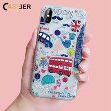 CASEIER 3D Emboss icecream Phone Case For iPhone 6 6s Plus Soft TPU Silicone Cases X 7 8 5 5s SE Funda Capinha