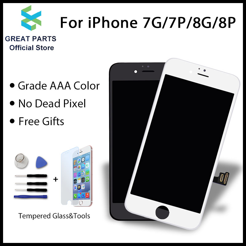 buy online 4d3c8 1d3f6 GREAT PARTS 1PCS LCD For IPhone 7 7 Plus 8 8 Plus LCD Display Touch Screen  Assembly Replacement Good 3D Touch Free Ship (BEST PRICE July 2019)