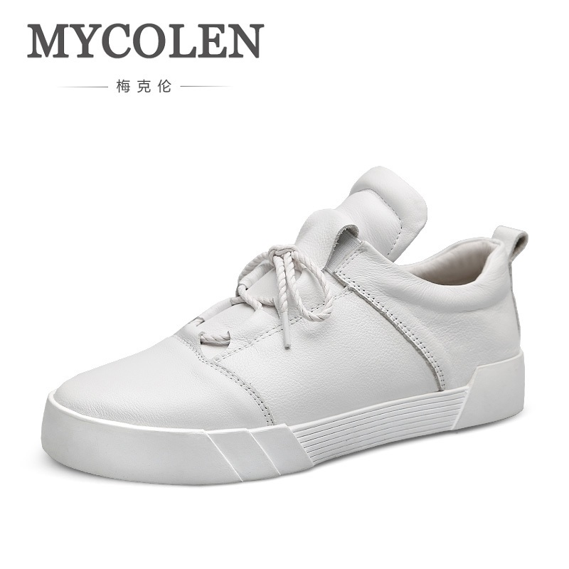 MYCOLEN New Arrival Spring Summer Comfortable Breathable Casual Shoes Mens Lace-Up Men Leather Sneakers Chaussure Sport Homme alex hoo free shiping hot selling 2016 new breathable comfortable lace up rubber sloe men s casual leather shoes csh00200
