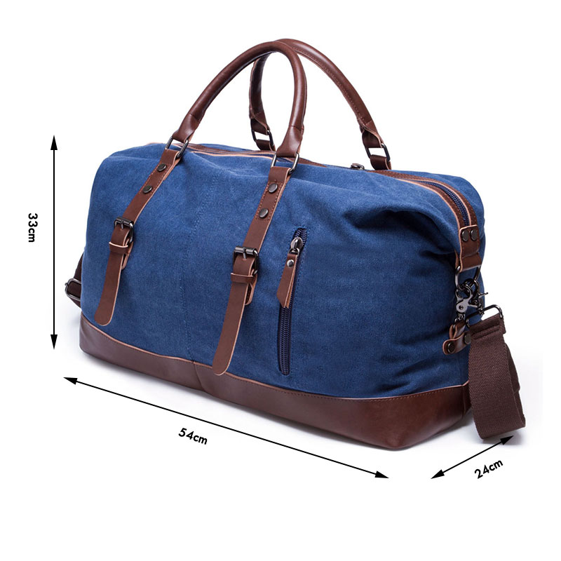 04045983b70c BAIGIO Canvas Leather Men Travel Bags Carry on Luggage Bags Men Duffel Bags  Travel Tote Large Weekend Bag Overnight Waterproof-in Travel Bags from  Luggage ...