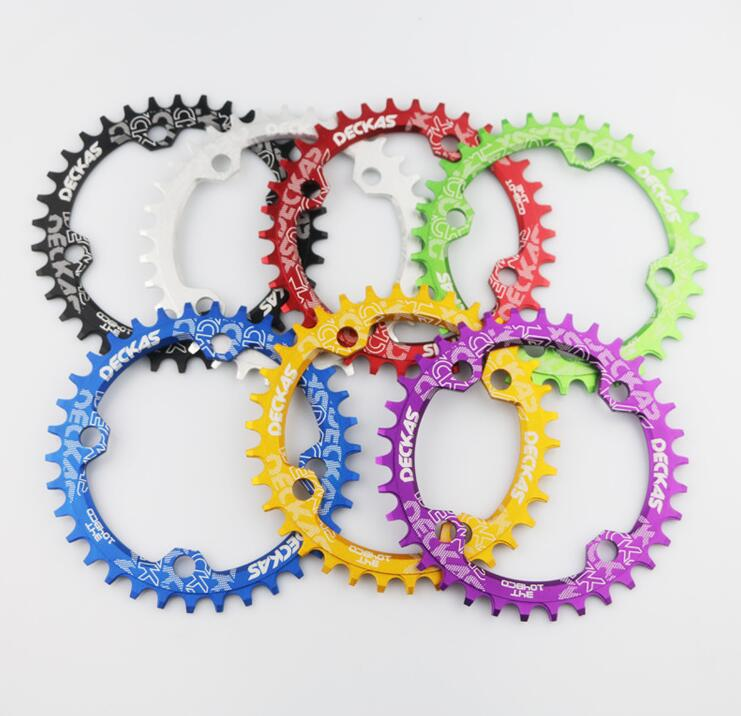 Image 4 - Deckas Round Narrow Wide Chainring MTB Mountain bike bicycle 104BCD 32T 34T 36T 38T crankset Tooth plate Parts 104 BCD-in Bicycle Crank & Chainwheel from Sports & Entertainment