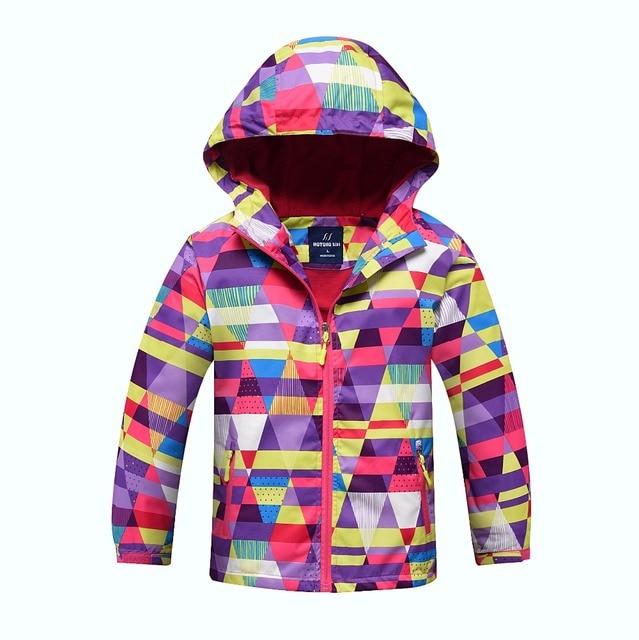 방수 색인 5000mm Windproof 아기 소녀 자 켓 어린이 코트 따뜻한 폴라 양 털 어린이 겉옷 3 12 년 오래 된