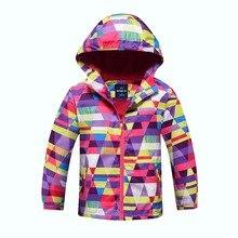 Chaquetas impermeables de 5000mm a prueba de viento para niñas, abrigo para niños, abrigo Polar cálido, prendas de vestir exteriores para niños de 3 a 12 años
