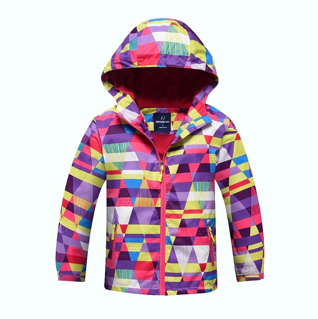 a4c09b04d Waterproof Index 5000mm Windproof Baby Girls Jackets Child Coat Warm ...