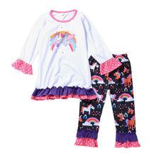Детский костюм для девочек весенне осенний цветной хлопковый