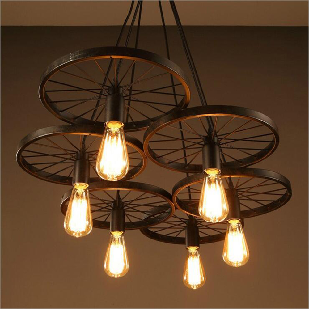 Eiceo decorating dining rooms restaurant american wrought iron eiceo decorating dining rooms restaurant american wrought iron chandelier round pendant hanging lamp droplight led in pendant lights from lights arubaitofo Gallery