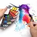 Прямая поставка, превосходные 18/25/33/42 цвета, однотонная фотоблестящая ручка с кисточкой для воды, портативный пигмент для рисования акварел...