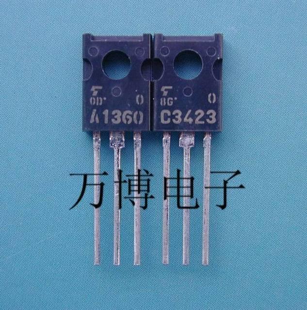 2018 מכירה לוהטת 10 זוג/30pair2SA1360 2SC3423 A1360/C3423 O קובץ יפן מקורי אודיו אלקטרוניקה משלוח חינם