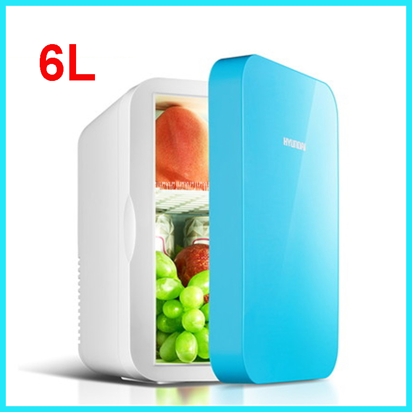 Portable Freezer 6 L Mini Fridge Refrigerator Car Home A Dual Use Compact Car Fridge 12V/220 V Temperature Variations HD-6L
