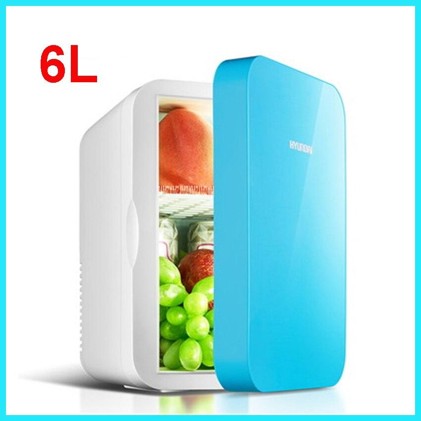 Portable Freezer 6 L Mini Fridge Refrigerator Car Home A Dual Use Compact Car Fridge 12V/220 V Temperature Variations HD-6L
