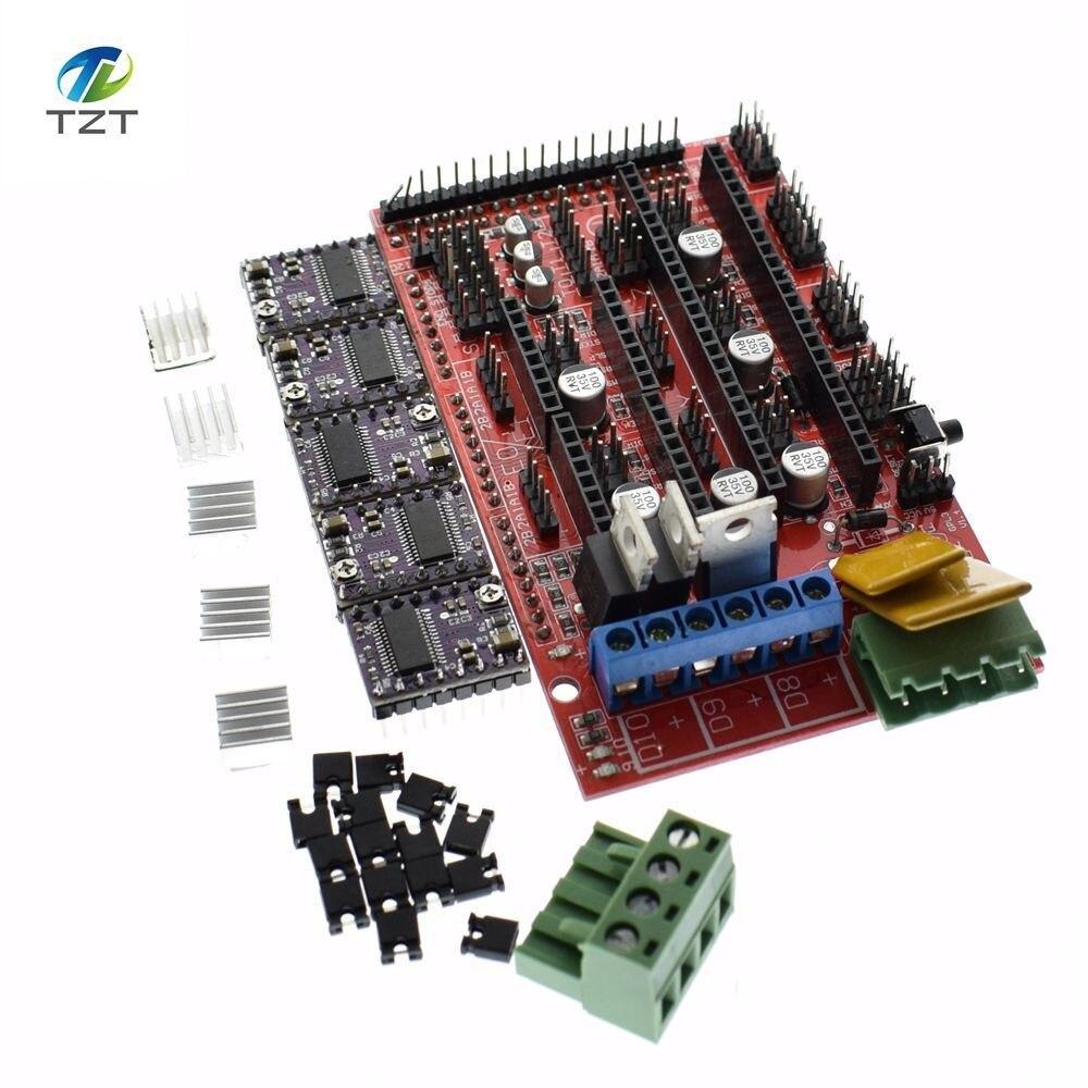 1 Lot Ramps 1.4 3d Printer Kit Control Panel Printer Control Reprap Mendelprusa With 5 Pcs Drv8825 Driver Module For 3d Printer Easy To Repair