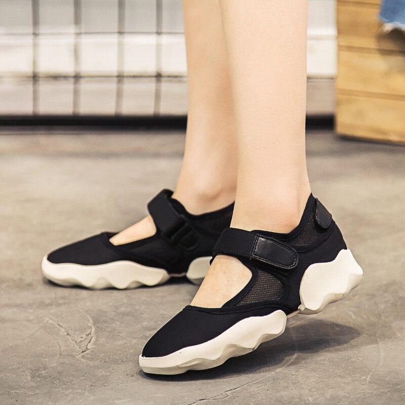 1e83b3842 Aptidão Rasos Shoes Antiderrapante Novos Sapatos Hookamp; Plano Running Da  2 Com Moda Sandálias De Loop Mulheres ...
