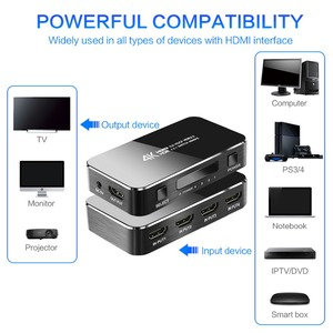 Image 2 - מיני HDMI Switcher עם IR מרחוק 4 ב 1 החוצה, 4 k/60Hz 2.0 גרסה מלאה HD 1080 P HDCP Switcher 3D עבור HDTV PS4 BLU Ray DVD טלוויזיה