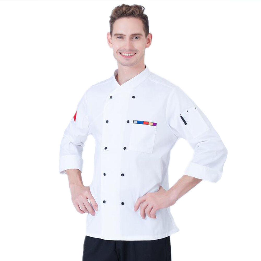 High Quality 5 Colors Long-Sleeved Chef Clothing Uniforms Unisex Hotel Restaurant Kitchen Chef Jacket Kitchen Work Clothes