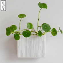 2016 Brief decoration white ceramic vases for wedding decoration Restaurant display Free shipping Stereo stripes