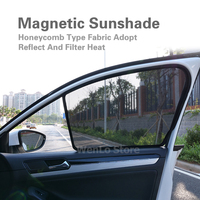 2 Pcs Magnetic Car Front Side Window Sunshade For Toyota VIOS REIZ HIACE SIENTA PICNIC Laser Shade Sun Block Visor Solar Cover
