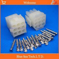 63080 9 Pin/way 6.3mm pitch Electrical connector kit (Housing+Terminal) for car/boat/motorbike ect