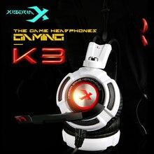 Xiberia K3 USB Игровые наушники Виртуальный 7.1 Surround Sound стерео Бас-гарнитура с микрофоном вибрации led для компьютера Gamer