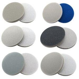 """Image 3 - 1 """"1.2"""" 2 """"3"""" 4 """"5"""" 6 """"sünger köpük zımpara diski 300 3000 Grit kanca döngü parlatma zımpara kağıdı kendinden yapışkanlı aşındırıcı aletler"""
