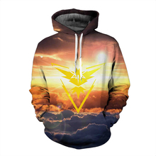 Instinct Sunset Cloud Scenery 3D Hooded Sweatshirt Men Women Hoodies Hipster Cartoon Pokemon Go Sweatshirts Outerwear