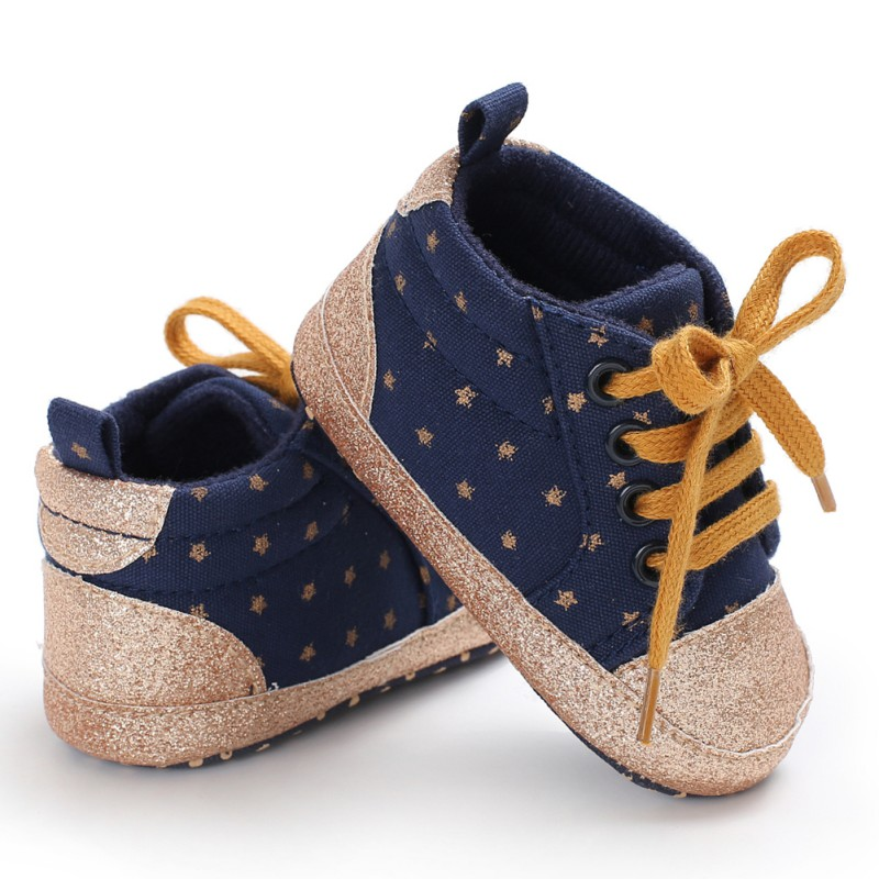 2018Baby Boys Girls Shoes Casual Anti-slip Toddler First Walkers Walking Lace-Up Shoes Newly