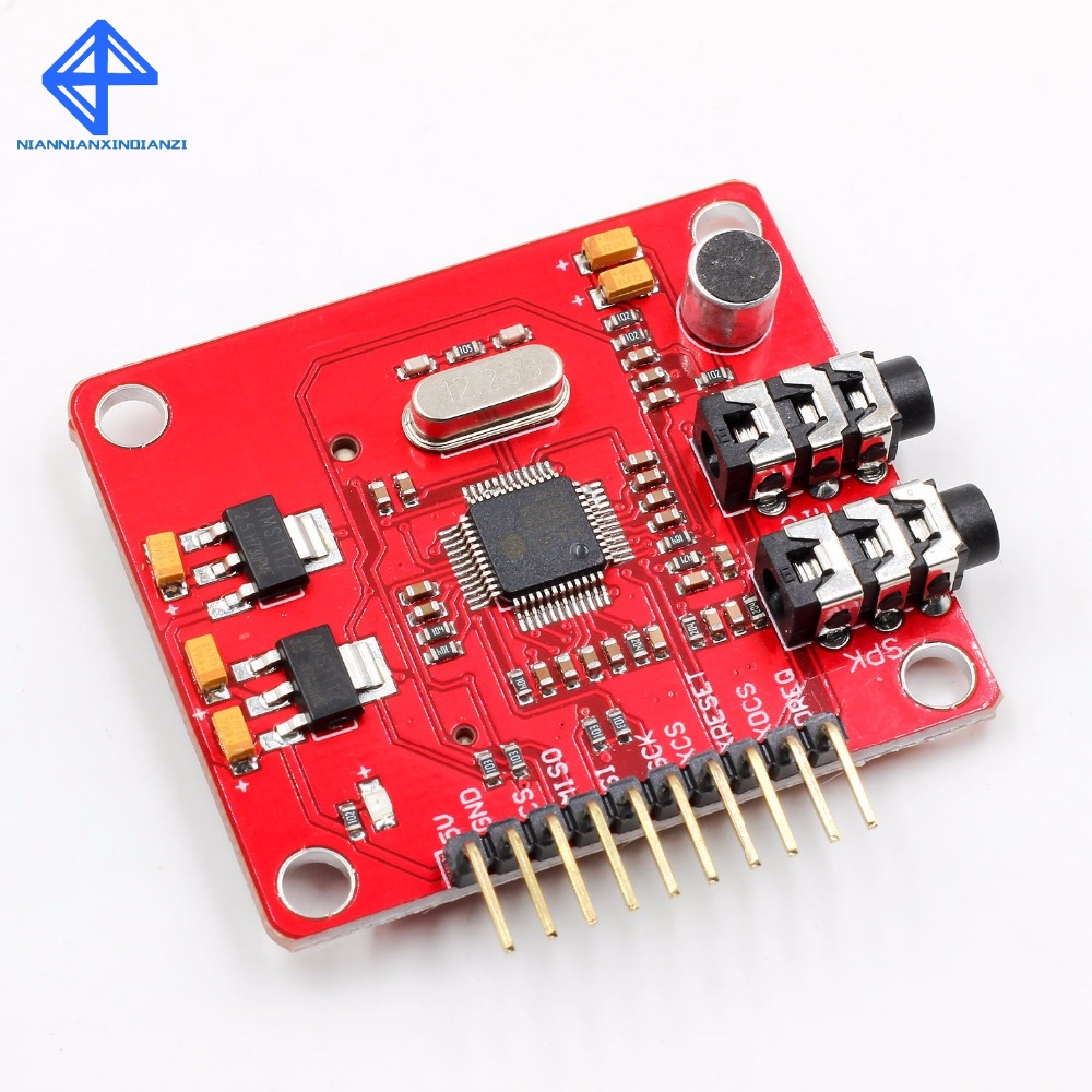 VS1053 VS1053B MP3 Module For Arduino UNO Breakout Board With SD Card Slot Ogg Real-time Recording For Arduino UNOVS1053 VS1053B MP3 Module For Arduino UNO Breakout Board With SD Card Slot Ogg Real-time Recording For Arduino UNO