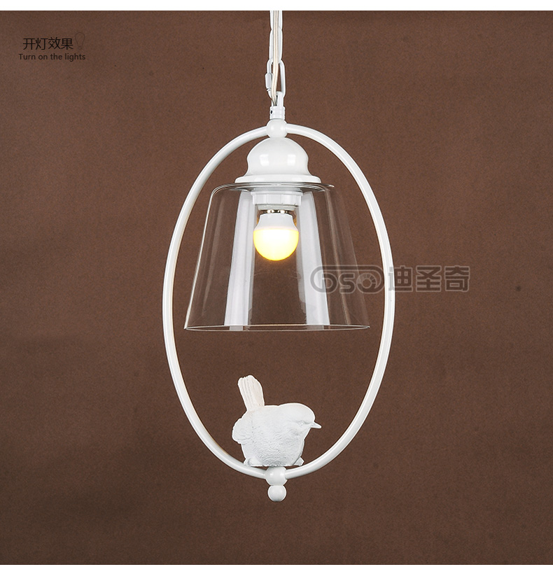 The bird restaurant of American kid room lamp chandelier lamp single head minimalist Scandinavian bird creative aisle porch lamp z best price minimalist restaurant bar chandelier single head lamp creative balcony flower pot lamp hanging garden lightings