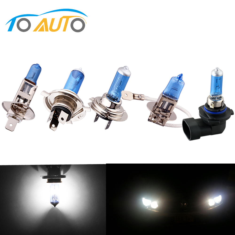 Car Headlight <font><b>Halogen</b></font> Bulb Lamp Light Super Bright White Hight Power 100W H1 H3 H4 <font><b>H7</b></font> H11 9005/HB3 9006 HB4 6000K 12V image