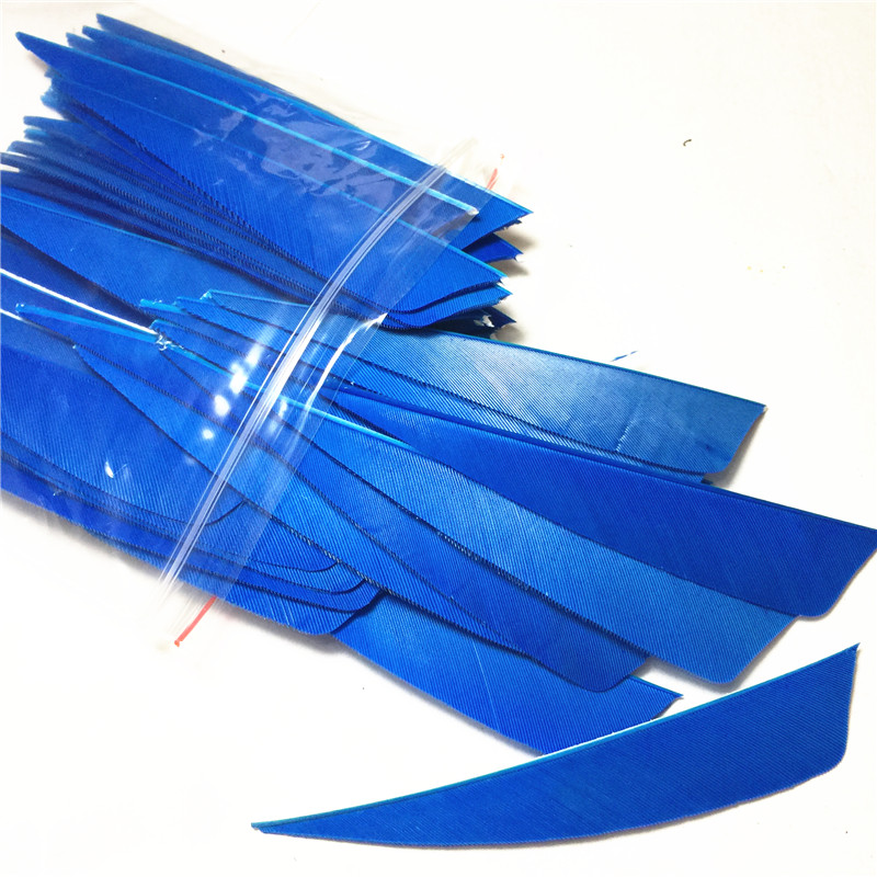 200Pcs Lot 4 inch Pellet Sky blue Turkey s Feathers High Quality Arrow Feathers Outdoor Shooting