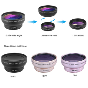 Image 4 - APEXEL เลนส์กล้อง Super 0.45x มุมกว้าง & 12.5x มาโครเลนส์ 2 ใน 1 เลนส์ HD สำหรับ iPhone x 7 8 Samsung s9 s8 xiaomi