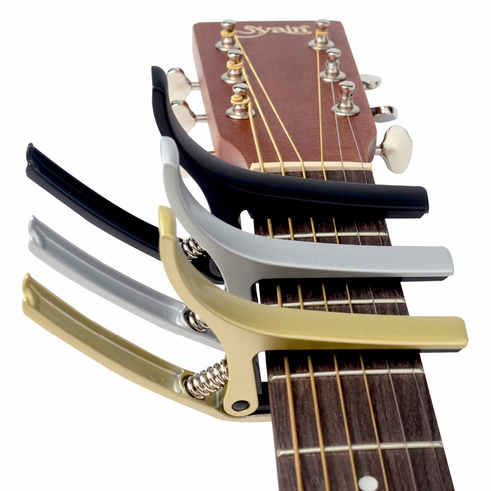 Guitar Capo Made of Aluminium alloy Silver Gold Black Color Guitarra Capotraste Top Quality  MC30 alloy classical guitar capo black silver