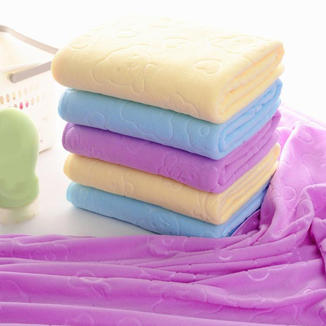 Nuovo Arrivo Ad asciugatura rapida asciugamano 70x140 cm Assorbente Orso Del Fum