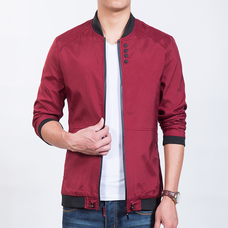 Aliexpress.com : Buy New 2016 Red Men's Jacket Baseball Collar ...