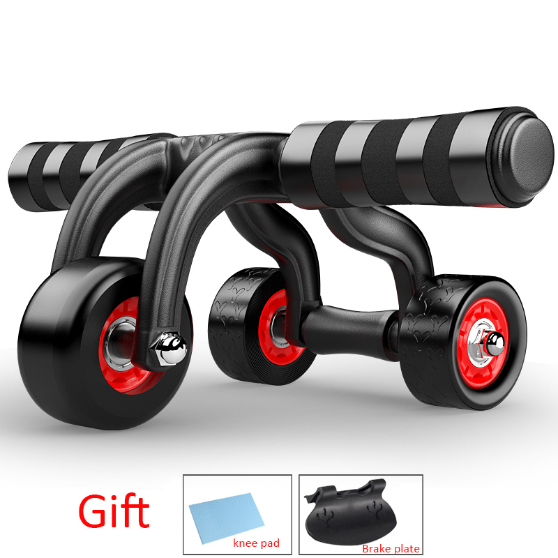 Four Wheels Abdominal Wheel Ab Rollers Fitness Waist and Abdomen Exercise Fourwheeled Abdominal Wheel for Gym Equipment