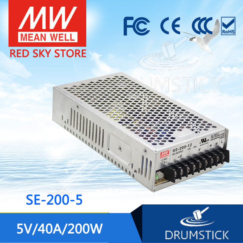 Genuine MEAN WELL SE-200-5 5V 40A meanwell SE-200 5V 200W Single Output Switching Power Supply mean well se 450 5 5v 75a meanwell se 450 5v 375w single output power supply [hot8]
